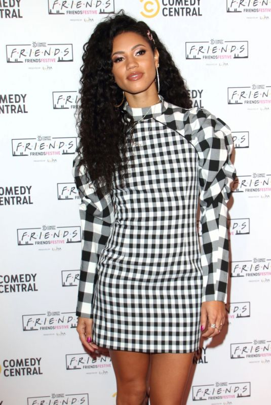 VICK HOPE at Comedy Central Friends Festive Exhibition Launch in London 11/28/2019