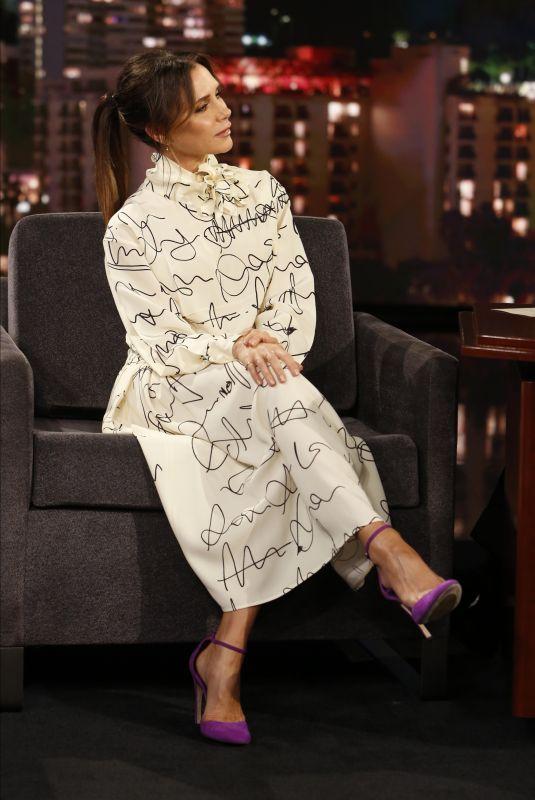 VICTORIA BECKHAM at Jimmy Kimmel Live 11/19/2019