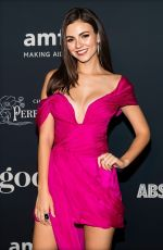 VICTORIA JUSTICE at Amfar Charity Poker Tournament and Game Night in San Francisco 11/15/2019