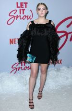 WILLOW SHIELDS at Let It Snow Premiere in Los Angeles 11/04/2019