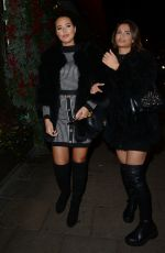 YAZMIN OUKHELLOU and NICOLE BASS Leaves Novikov Restaurant in London 11/29/2019