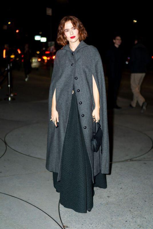 ZOEY DEUTCH Arrives at Guggenheim International Gala in New York 11/13/2019