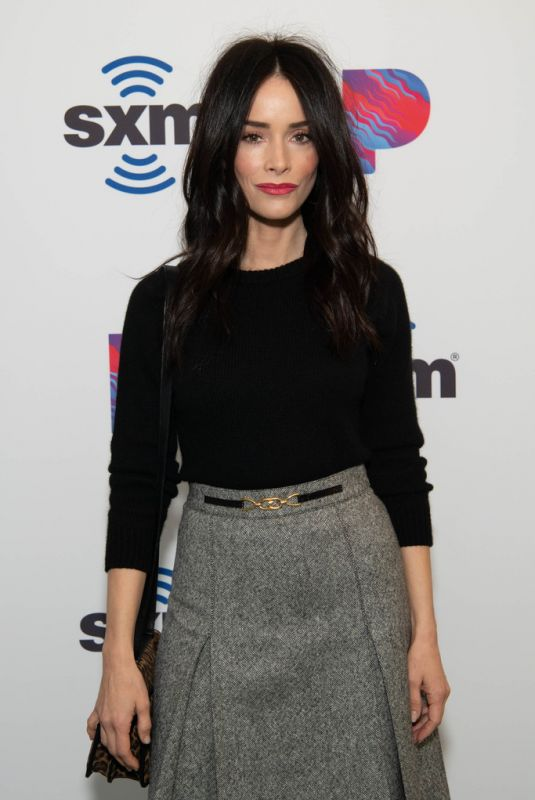 ABIGAIL SPENCER at SiriusXM Studios in Hollywood 12/18/2019