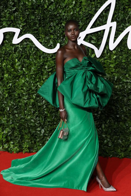 ADUT AKECH at Fashion Awards 2019 in London 12/02/2019
