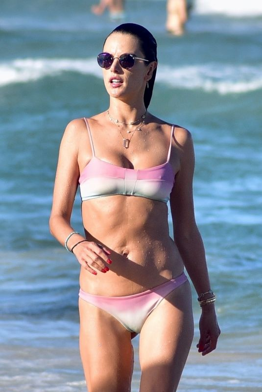 ALESSANDRA AMBROSIO in Bikini at a Beach in Florianopolis 12/30/2019