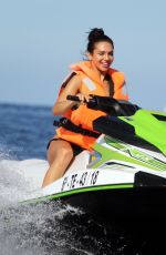 ALEXANDRA CANE in Bikini Riding a Jet Ski in Tenerife 12/27/2019