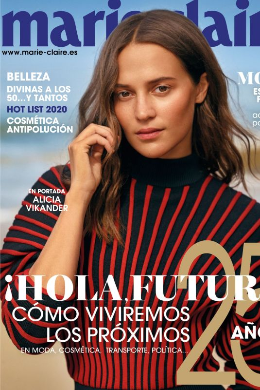 ALICIA VIKANDER in Marie Claire Magazine, Spain January 2020