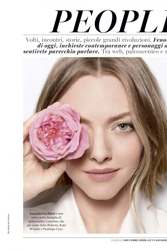 AMANDA SEYFRIED in Glamour Magazine, Italy December 2019/January 2020