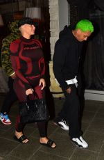 AMBER ROSE and Alexander AE Edwards Out for Dinner in Beverly Hills 12/19/2019