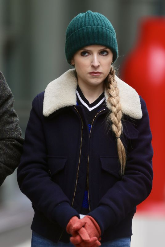 ANNA KENDRICK on the Set of Love Life in New York 12/04/2019