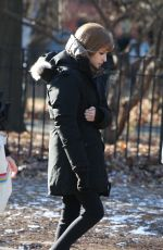 ANNA KENDRICK on the Set of Love Life in New York 12/20/2019