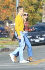 ANNABELLE WALLIS and Chris Pine Out in Hollywood 12/19/2019