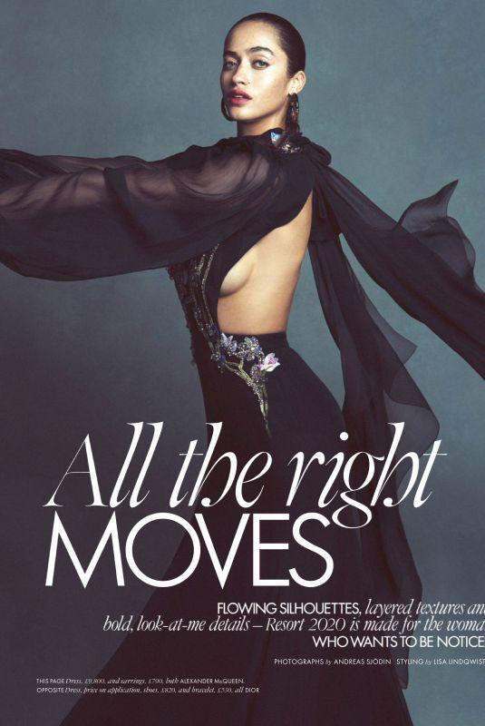 ARIANNA ARRINGTON in Elle Magazine, UK January 2020