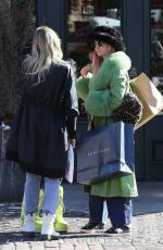 ASHLE SIMPSON Out Shopping in Aspen 12/26/2019