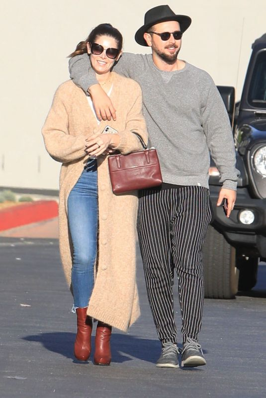ASHLEY GREENE and Paul Khoury Out Shopping in West Hollywood 12/11/2019