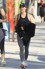 ASHLEY GREENE Leaves Yoga Class in Studio City 12/28/2019