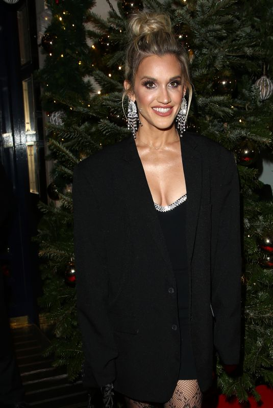 ASHLEY ROBERTS at Tramp Private Members Club Christmas Party in London 12/17/2019