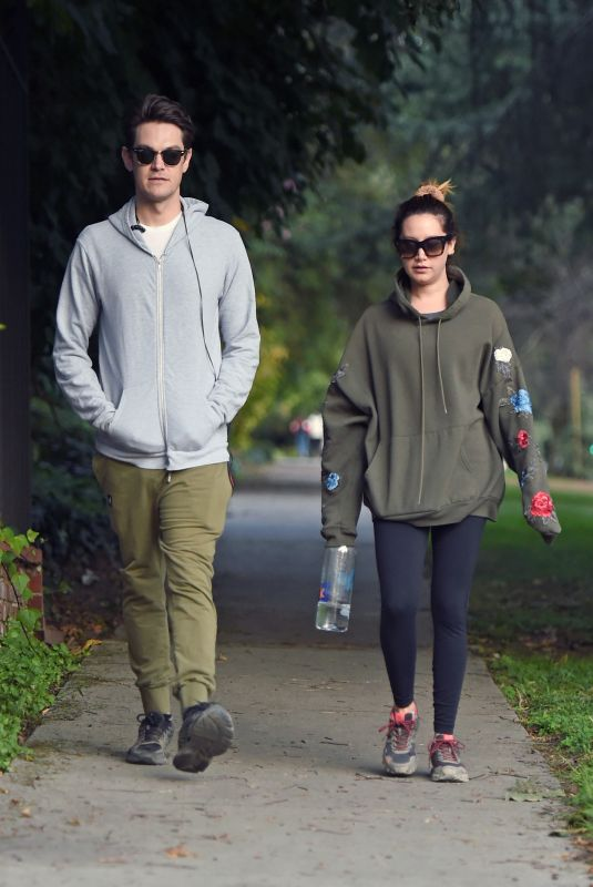 ASHLEY TISDALE and Christopher French Out Hiking in Los Angeles 12/17/2019
