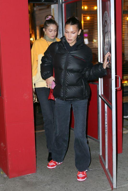 BELLA and GIGI HADID and KENDALL JENNER at La Esquina in New York 12/12/2019