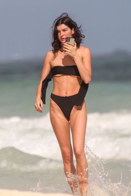 BELLA BANOS in Bikini at a Beach 12/20/2019