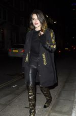 BELLA THORNE and Benjamin Mascolo Out for Dinner in London 12/02/2019