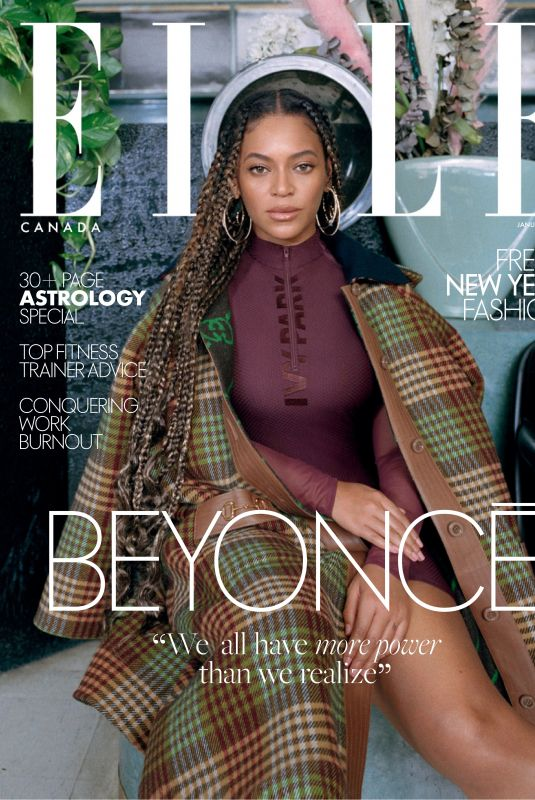 BEYONCE in Elle Magazine, Canada January 2020