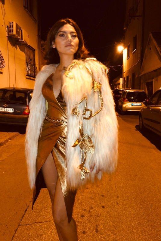 BLANCA BLANCO at a Photoshoot in Belgrade 12/12/2019