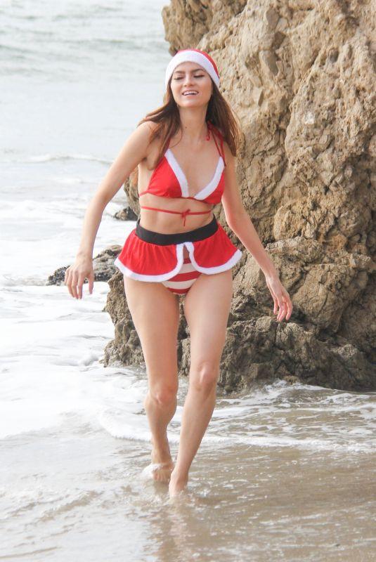 BLANCA BLANCO in Christmas Themed Bikini 12/20/2019