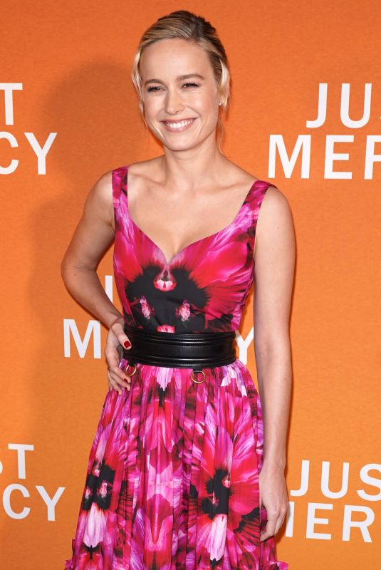 BRIE LARSON at Just Mercy Special Reception in New York 12/15/2019