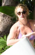 BRITNEY SPEARS in Bikini at a Pool in Miami 12/01/2019