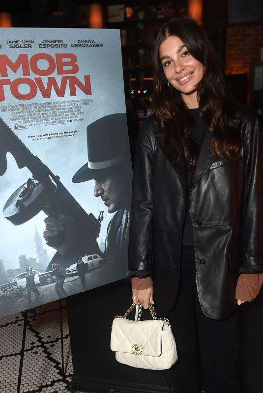 CAMILA MORRONE at Mob Town Premiere in Los Angeles 12/13/2019