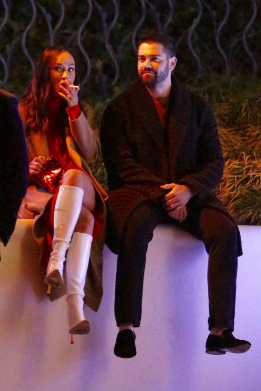 CARA SANTANA and Jesse Metcalfe at Seth Macfarlane's Christmas Party 12/14/2019