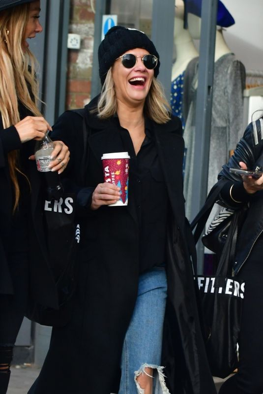 CAROLINE FLACK Out Shopping in London 12/24/2019