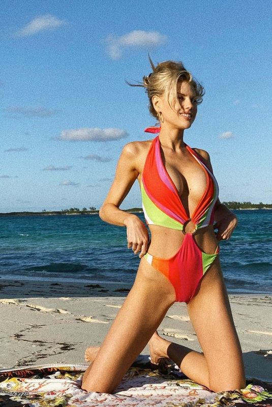 CHARLOTTE MCKINNEY in Swimsuit for Fiji Water - Instagram Photos 12/02/2019