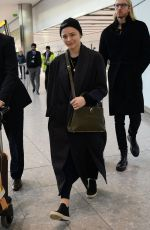 CHLOE MORETZ at Heathrow Airport in London 12/02/2019