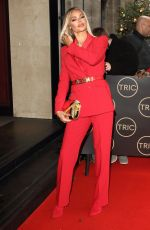 CHLOE SIMS Arrives at Tric Christmas Charity Lunch in London 12/10/2019