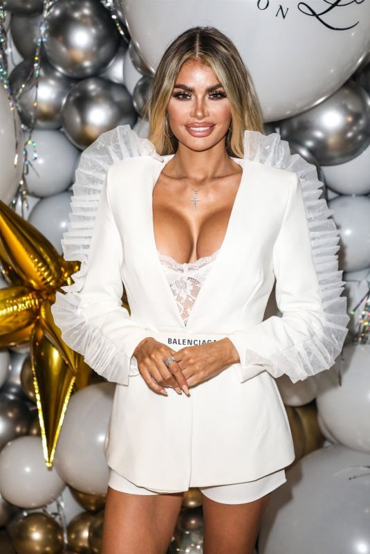 CHLOE SIMS at Club L London Christmas Dinner Party 12/16/2019