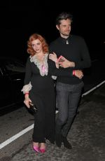 CHRISTINA HENDRICKS Arrives at a Party in Los Angeles 12/08/2019