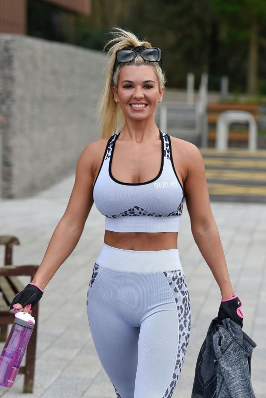 CHRISTINE MCGUINNESS Leaves a Gym in Manchester 12/23/2019