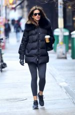 CINDY CRAWFORD Leaves a Gym in New York 12/12/2019