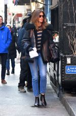 CINDY CRAWFORD Waits in Line for Food in New York 12/12/2019