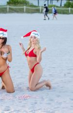 CLAUDIA ROMANI and JESS PICADO in Bikinis in South Beach 12/22/2019