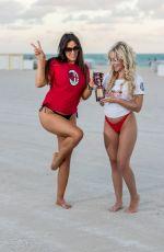 CLAUDIA ROMANO and JESS PICADO at a Beach in Miami 12/08/2019