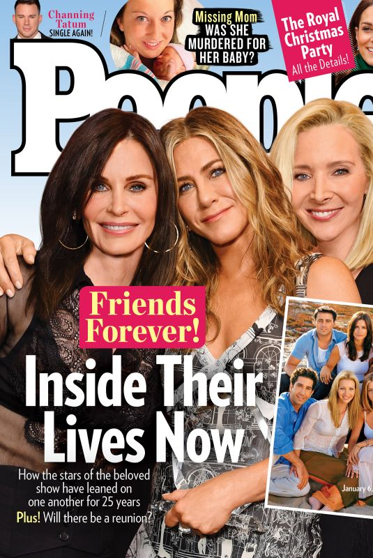 COURTENEY COX, JENNIFER ANISTON and LISA KUDROW on the Cover of People Magazine, January 2020