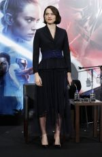 DAISY RIDLEY at Star Wars: The Rise of Skywalker Press Conference in Tokyo 12/12/2019