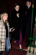 DAISY RIDLEY Leaves Park Chinois Restaurant in London 12/19/2019