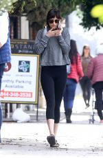 DAKOTA JOHNSON Leaves Yoga Class in Studio City 12/10/2019