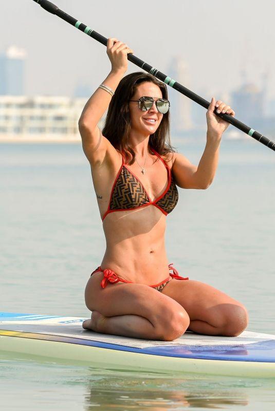 DANIELLE LLOYD in Bikini Paddle Boarding in Dubai 12/01/2019
