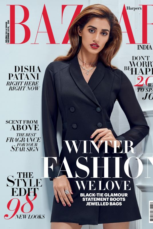 DISHA PATANI in Harper's Bazaar Magazine, India December 2019