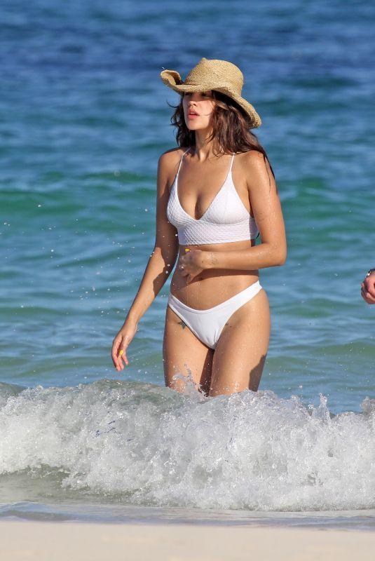 EIZA GONZALEZ in Bikini on the Beach in Tulum 12/09/2019